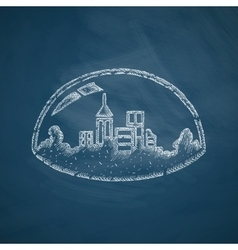 Domed city icon vector