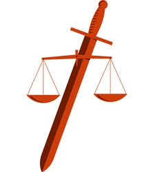 Emblem of Justice vector image vector image