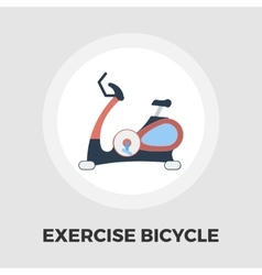 Exercise bicycle flat icon vector image vector image