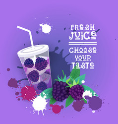 fresh juice logo healthy vitamin drink bar vector image vector image