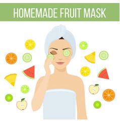 fruit mask vector image vector image