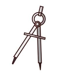 Geometric compass utensil vector