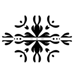 Hand drawn symmetrical design element vector image vector image