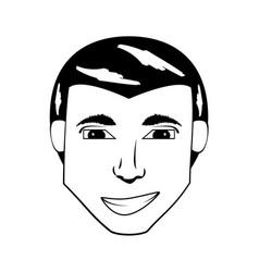 Head man avatar comic vector