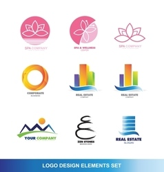 Logo design elements set vector