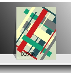 Magazine cover with pieces of colored PaperFor vector image vector image