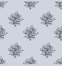 mistletoe seamless pattern hand drawn sketch vector image vector image