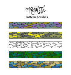 Pattern brush strokes of reptile skin doodle vector
