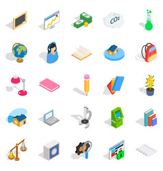 Reactions icons set isometric style vector