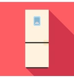 Refrigerator icon flat style vector