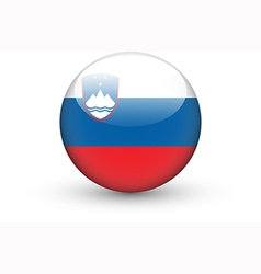 Round icon with national flag of slovenia vector