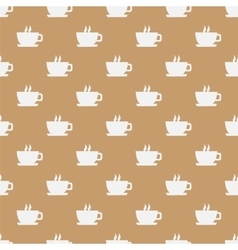 Seamless pattern with hot coffee vector image vector image