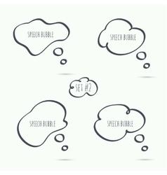 Set hand drawn speech bubble vector image vector image