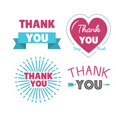 Thank you gratitude feeling emotions text vector