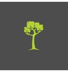 Tree logo design template Garden logotype vector image
