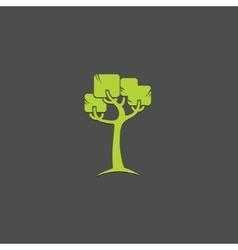 Tree logo design template Garden logotype vector image vector image