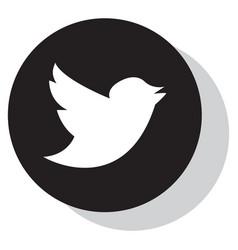 Tweet bird logotwitter icon buttonflat social vector