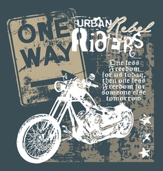 urban rebel rider vector image
