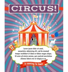 Vintage circus poster template vector