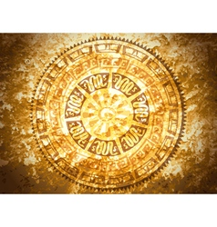 Vintage Petroglyph at Stone Background vector image
