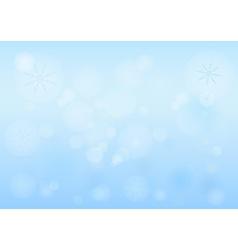 Winter Bokeh vector image