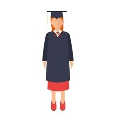 Woman academic graduation vector