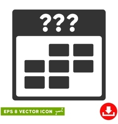 Unknown month calendar grid eps icon vector