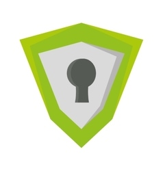 Shield security system isolated icon vector