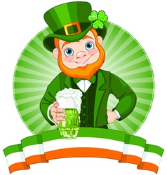 Leprechaun toast vector
