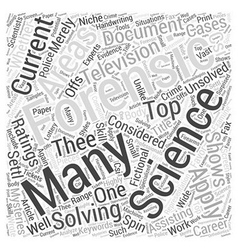 Forensic science the many sciences applied to vector
