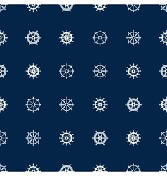 Ship helm seamless pattern yacht boat vector