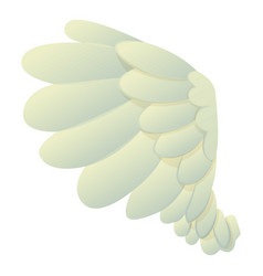 Dove wing icon cartoon style vector