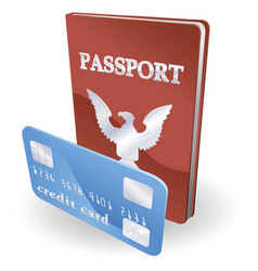 passport and credit card vector image