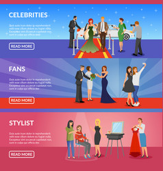 Celebrity horizontal banners vector
