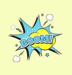 Lettering boom bomb vector