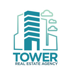 Tower real estate agency symbol vector