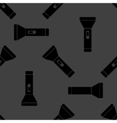 Flashlight web icon flat design seamless gray vector