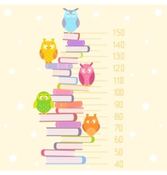 Owls on books vector