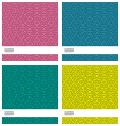 4 in 1 abstract background vector image vector image
