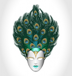 peacock mask vector