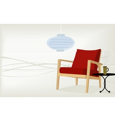 retro-modern home vector image