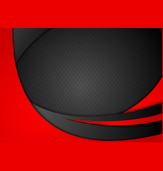Red and black abstract corporate waves vector image