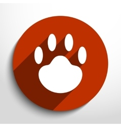 Paw web icon vector