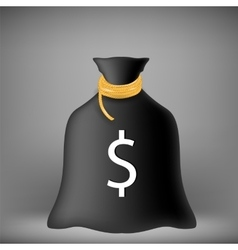 Black money bag vector