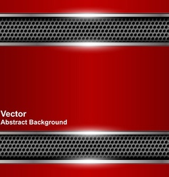 Technological abstract background metallic red vector image