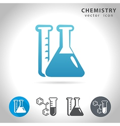 Chemistry blue icon vector
