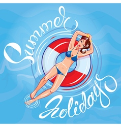 Girl summer holidays 380 vector