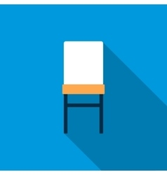 Front of chair icon flat style vector