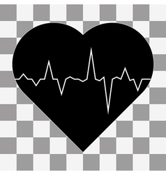 Electrocardiogram icon on a transparent vector