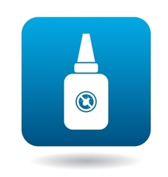 Tube with anti tick drug icon simple style vector